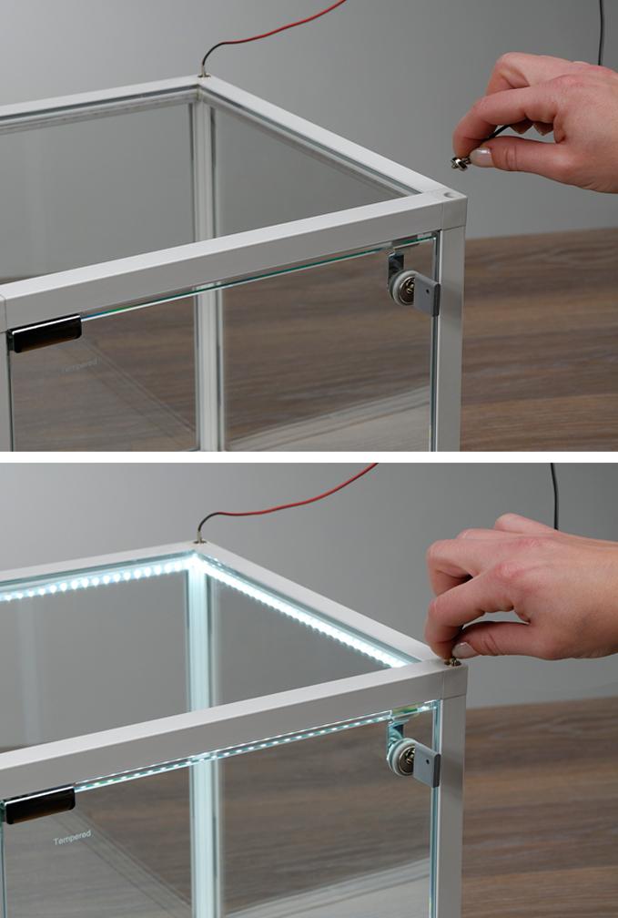 Illuminazione integrata kubus