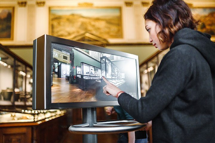 Allestimento museale tecnologia